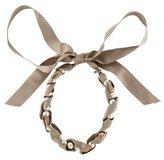Lanvin Silk & Pearl Ribbon Necklace