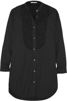 Raphaëlla Riboud June lace-paneled polka-dot cotton-poplin nightshirt