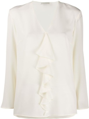 Etro Ruffle Long-Sleeve Blouse