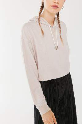 Out From Under Charli Cosy Hoodie - grey XS at Urban Outfitters