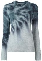Raquel Allegra tie-dye shredded sleeve jumper - women - Cashmere/Merino - 0