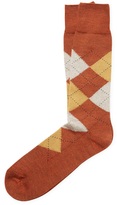 Brooks Brothers Wool Crew F15 Argyle Socks