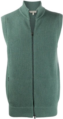 Holland & Holland Ribbed Zip-Up Vest