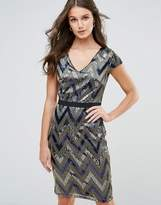Paper Dolls Zig Zag Shimmer Sequin Dress