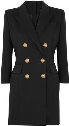 Balmain Black Cotton-blend Blazer Dress