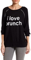 Peace Love World I Love Brunch Sweater