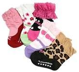StylesILove.com StylesILove Baby Girl Soft Cotton Mixed-print Non Slip Socks 5 Pairs
