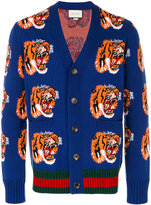 Gucci tiger cardigan - men - Wool - S