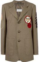 Maison Margiela patch detail longline blazer