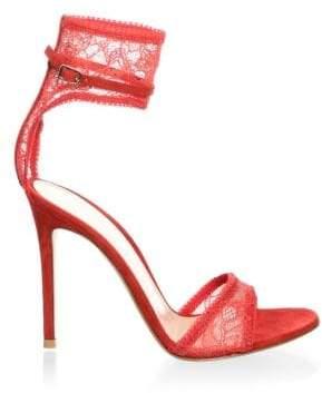Gianvito Rossi Lace Ankle Strap Sandals