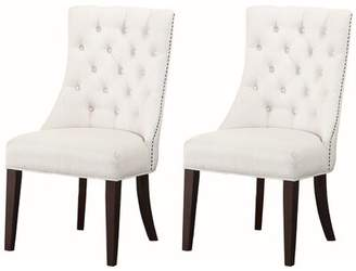 Carrera Charlton Home Side Chair Charlton Home Upholstery Color: Cream