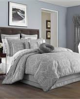 J Queen New York Colette Silver Queen Comforter Set