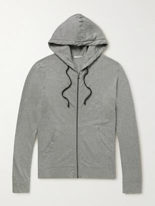 James Perse Loopback Supima Cotton-Jersey Zip-Up Hoodie