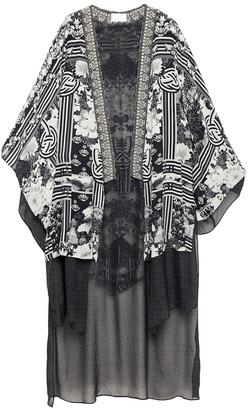 Camilla Wild Moonchild Embellished Printed Silk Crepe De Chine And Chiffon Kimono
