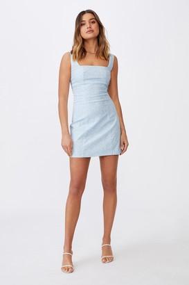 Supre Capri Fitted Square Neck Mini Dress