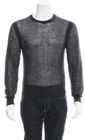 Calvin Klein Collection Semi-Sheer Wool-Blend Sweater