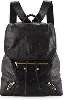 Balenciaga Giant Lambskin Traveler Backpack, Black