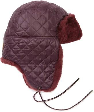 UGG Genuine Shearling & Faux Fur Trim All Weather Trapper Hat
