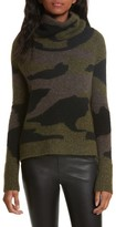Veronica Beard Women's Davis Camo Print Turtleneck Sweater