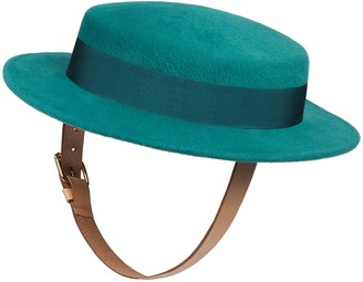 Gucci Felt wide brim hat with buckles