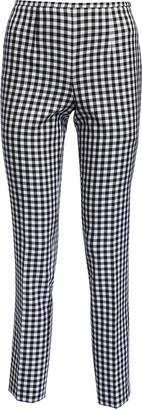 Michael Kors Cropped Straight-Leg Gingham Pants