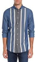 Gant Men's Tech Slim Fit Varsity Stripe Sport Shirt