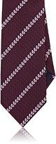 Ermenegildo Zegna Men's Pixel-Striped Silk Necktie-BURGUNDY