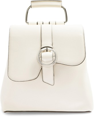 Topshop Polly Buckle Faux Leather Backpack