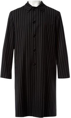 Versace Black Wool Coats