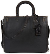 Coach Rogue Black Leather Tote