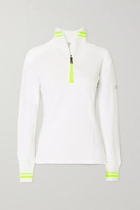 Bogner Dimitra Striped Stretch-jersey Turtleneck Top - White