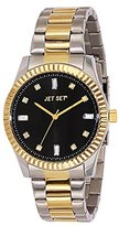 Jet Set J 59776-232 Cool Women's Quartz Analogue Watch-Black Face - 2 Tone steel Bracelet