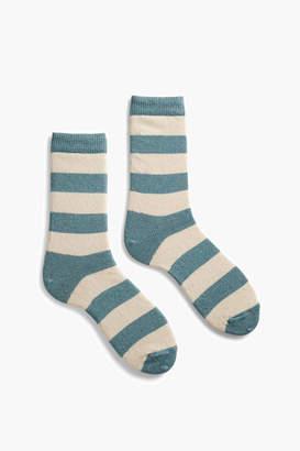 Lisa B Mineral Rugby Stripe Crew Socks