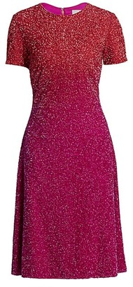 Pamella Roland Ombre Sequin Cocktail Dress