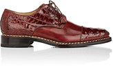 Harris Men's Cap-Toe Leather & Crocodile Bluchers