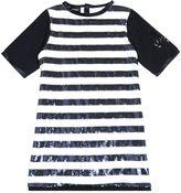Diesel Sequin Striped Cotton Jersey Dress