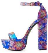 Charlotte Russe Brocade Two-Piece Platform Sandals