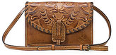 Patricia Nash Burnished Tooled Collection Lanza Convertible Cross-Body Bag