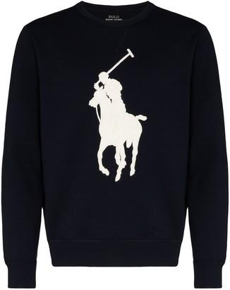 Polo Ralph Lauren Contrast Logo Crew-Neck Jumper