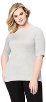 Amazon Brand - Daily Ritual Women's Plus Size Fluid Knit Elbow-Sleeve Boat Neck Shirt 6X