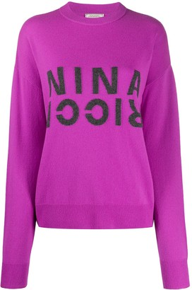 Nina Ricci Stitched Logo Jumper