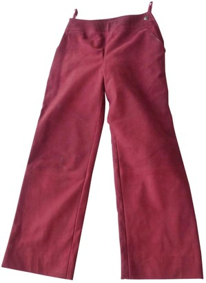 Chanel Red Suede Trousers