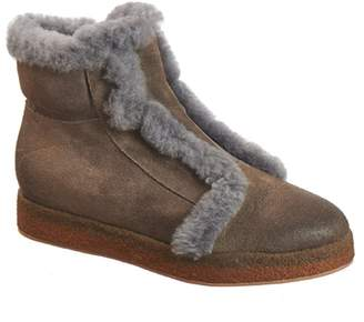 Antelope FUR Fur Trimmed Leather Bootie
