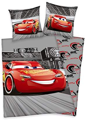 Herding Disney Cars Bedding Set, Cotton, Grey, 200 x 135 cm