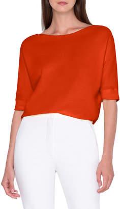 Akris 1/2-Sleeve Cotton Sweater