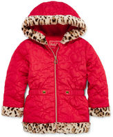 Asstd National Brand Pistachio Heart Quilted Jacket - Toddler Girls 2t-5t