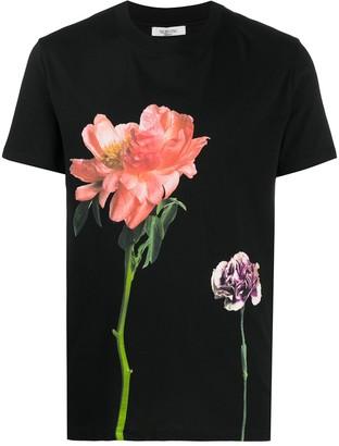 Valentino floral-print crew-neck T-shirt