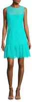 Shoshanna Lace Gathered Hem A Line Dress