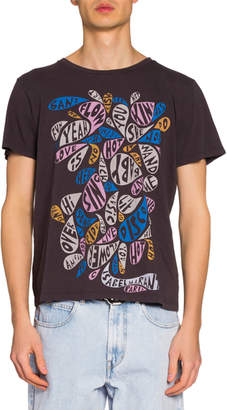 Isabel Marant Men's Paisley Words Graphic T-Shirt