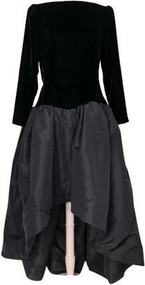 Saint Laurent Black Silk Dresses